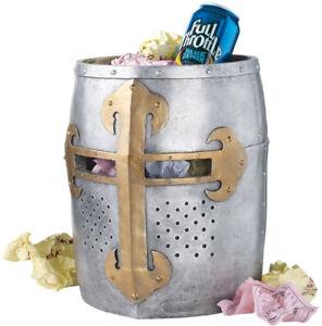 Crusader's Great Helm Gothic Waste Basket - NEW - ($125 Value)