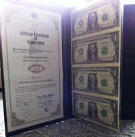 Uncut $US 1 Currency Sheet (BRAND NEW)