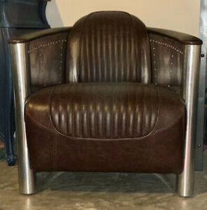Brown Leather Aviator Chair