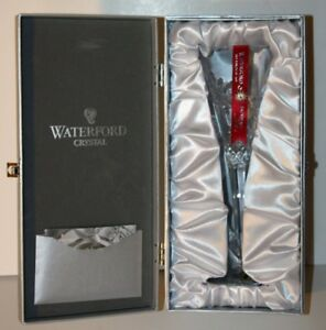 """WATERFORD """"Snowflake Wishes"""" JOY Flute Clear Crystal"""