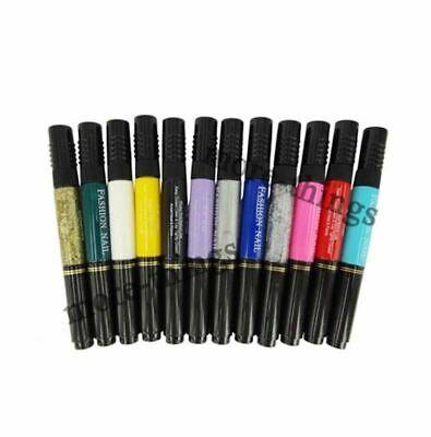 NEW 12 Colors Acrylic Nail Art Color Two-way Polish pen Design #494 Best