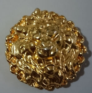 Vintage Lion Head Versace Brooch