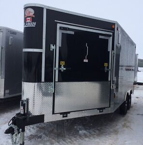 2016 CJAY FX9-814-72-T35 Enclosed Snowmobile Trailer