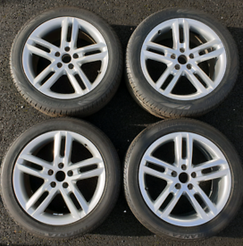 "Genuine Audi 18"" Alloy wheels, 2 new tyres & 2 part-worn: A3 A4 A5 A6"