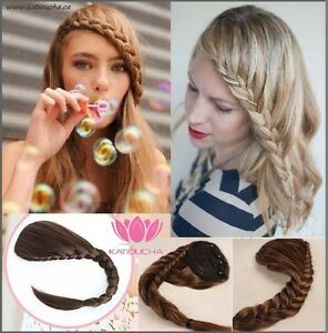 CLIP IN hair extension, Braid fringe in all colors