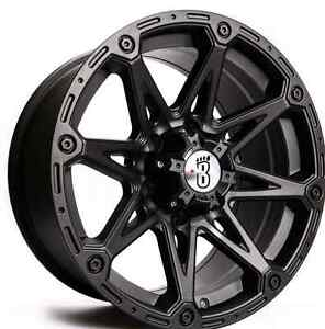 """*** 4 NEW WHEELS  FOR FORD F-150*** 17"""" 6x135 MATTE BLACK"""
