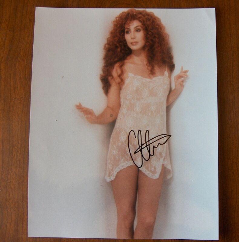 Vintage Cher Signed Autographed 8x10 Color Photo