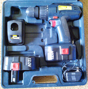 'TradeMaster' 120V Cordless Drill w/ Case, 2 Batteries & Charger