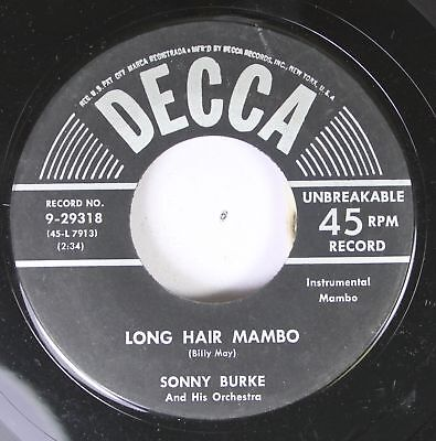 50'S & 60'S 45 Sonny Burke And His Orchestra - Long Hair Mambo /