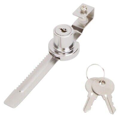 Prosource 6298343-3l Sliding Glass Showcase Lock 14-inch Chrome Finish 8869406