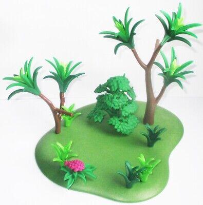 Playmobil PFLANZENPLATTE Pflanzen BAUM Panda Familie Zoo 3241 Bodenplatte Rasen