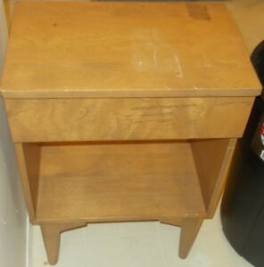 Pair Of Bedside Side Tables With Drawer Solid Wood