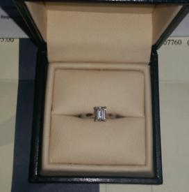 GIA CERTIFIED Emerald Cut Diamond Ring