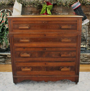 Gorgeous, Masculine Looking, Antique, Solid Wood Dresser