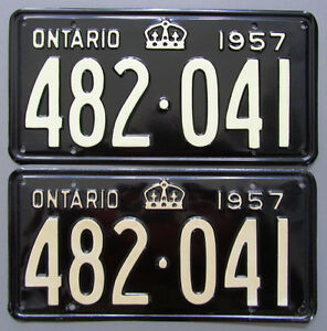 Classic Car YOM License Plates - Ministry Approval Guaranteed! Belleville Belleville Area image 8