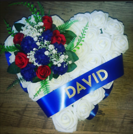Artificial flower 14 inch wreath for cemetery