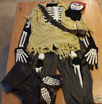 New Disney Store JACK SPARROW Boney Pirate Costume Mens L - Jack Sparrow Disney Costume