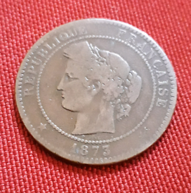 1873 old French coin