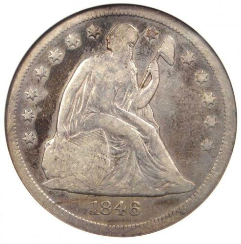 1846-O Seated Liberty Silver Dollar $1 - ANACS VF Details (Net F12) - Rare Coin!