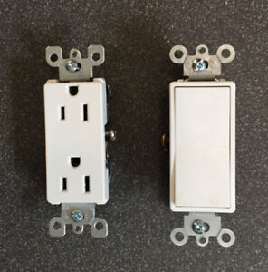 Decora toggle switches and sockets$1.00 each