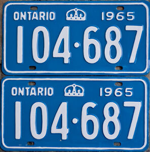 YOM Licence Plates For Your Old Auto - Ministry Guaranteed! Kitchener / Waterloo Kitchener Area image 1