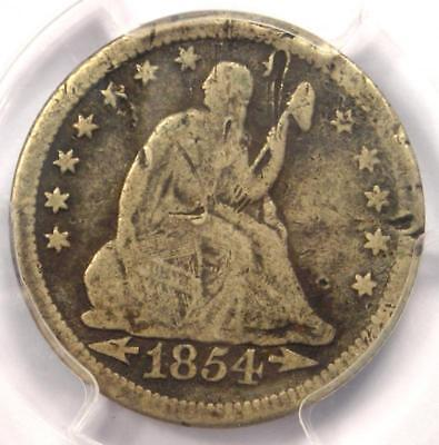 "1854-O ""Huge O Variety"" Seated Liberty Quarter 25C - PCGS VG Details - Rare Coin"