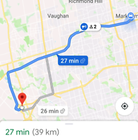 Carpool on 407 from Warden to 427