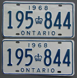 Classic Car YOM License Plates - Ministry Approval Guaranteed! Belleville Belleville Area image 9