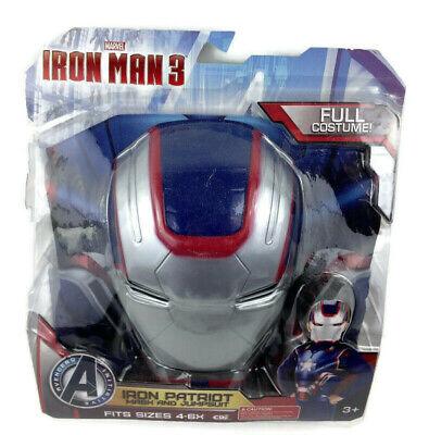Kids Iron Patriot Costume (Marvel Ultimate Avengers PATRIOT IRON MAN Costume Jumpsuit Mask Child 4-6 X)