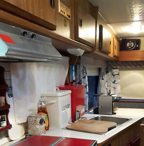 Newly renovated fifth wheel camper trailer