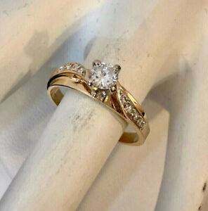 14k yellow gold diamond engagement ring ^Compare at $2,400