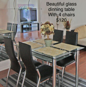 Moving Sale-Dinning Table Set