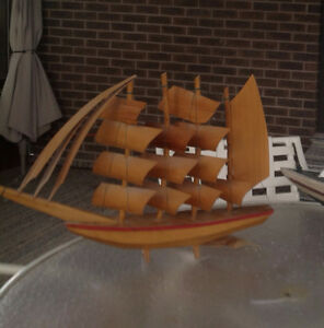 Hand Crafted Vintage Sailing Boat Model