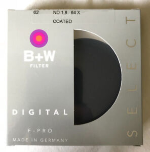 B+W 62mm SC 106 Solid Neutral Density 1.8 Filter (6 Stop)