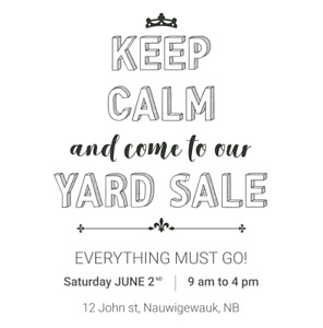 A wicked yard sale Saturday June 2nd 9 to 4