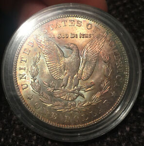 Uncirculated Toned Silver Dollar Coin