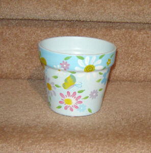Never Used - Painted Pot