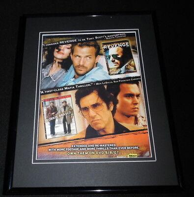 Donnie Brasco / Revenge 2007 Framed 11x14 ORIGINAL Advertisement Al Pacino
