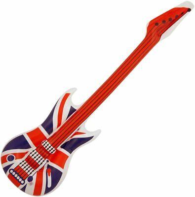 106cm Inflatable Union Jack Guitar Blow Up Fancy Dress Party