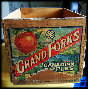 Wooden Crate - Grand Forks - Apple Box