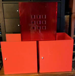 3 Red Ikea Kallax or Expedit Inserts