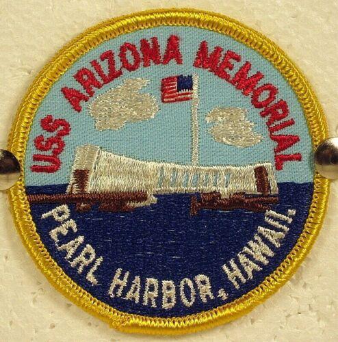 USS Arizona Memorial Pearl Harbor, Hawaii Full Colored Patch