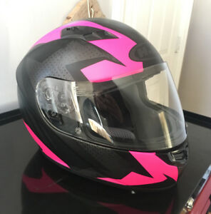 Pink and Black HJC Helmet, size Small, like NEW.