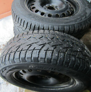 225/65/R17-NISSAN ROGUE 2015 - 4WINTER TIRES On RIMS *All NEW!