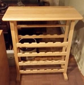 Rack à vin en bois