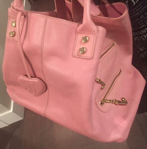 As new ~ authentic Juicy couture pink leather bag worth $600+