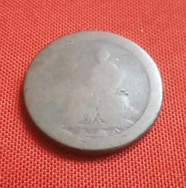 George III cartwheel coin - 1799? - historic but worn