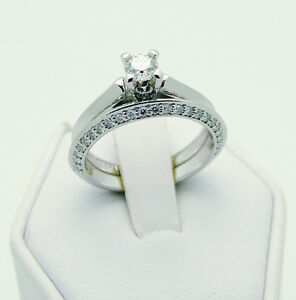 STUNNING 950 SOLID PLATINUM & BLUE NILE DIAMOND RING SET
