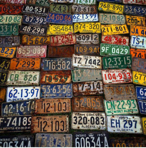Looking for old Alberta and Military License Plates