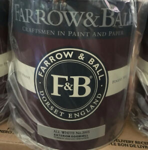 Farrow & Ball - All White Exterior Paint - 7 gallons